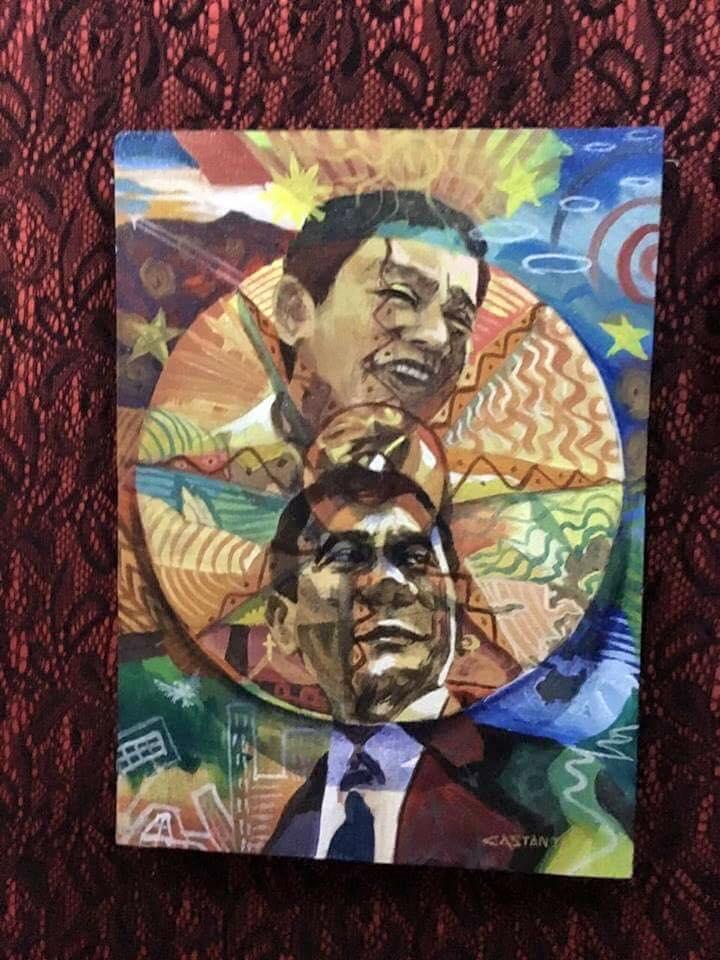 LOOK: South Cotabato artist paints images of Duterte | ABS ...