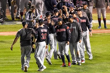 Indians rip Cubs to reach brink of World Series title