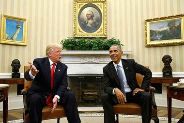 Obama and Trump cap tempestuous transition
