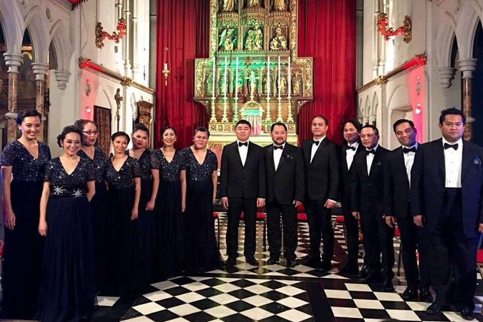British filipino choir brings christmas cheer to london for Bureau tagalog