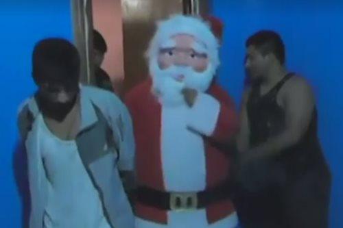 Peru's Santa cop knows who's been naughty