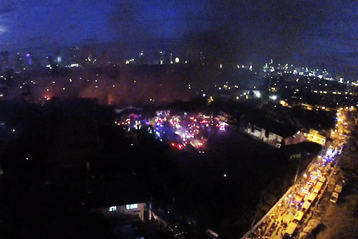 WATCH: Drone video shows Mandaluyong blaze