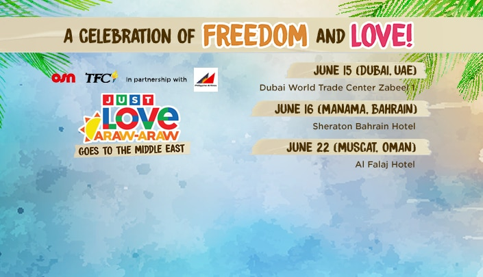 ABS-CBN takes #JustLoveArawAraw caravan across the world to the Middle East and Europe