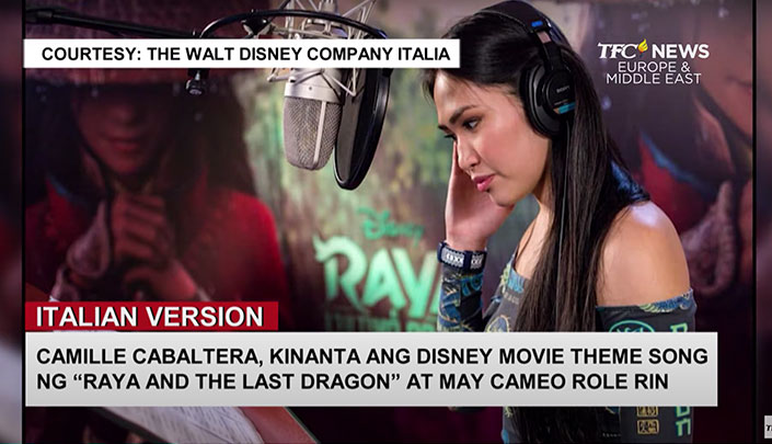 Filipina singer na si Camille Cabaltera, tampok sa Italian version ng theme song para sa Disney movie na 'Raya and the Last Dragon'