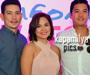"PHOTOS: Judy Ann Santos, Richard Yap at Diether Ocampo, magsasama-sama sa teleseyeng ""Someone To Watch Over Me"""