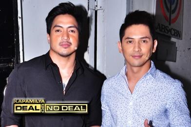 PHOTOS: Pasion de Amor hunks Wendell Ramos and Ahron Villena on Kapamilya Deal or No Deal